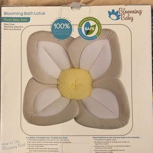 Blooming Baby plush baby bath NEW in box